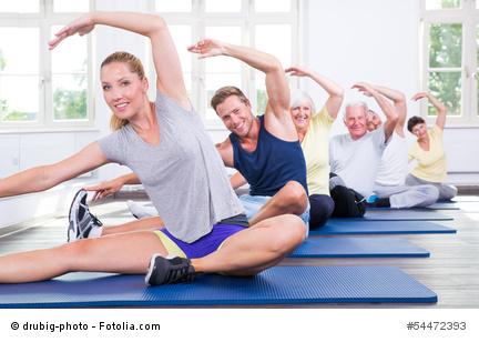 Gymnastikszene Im Fitnessstudio
